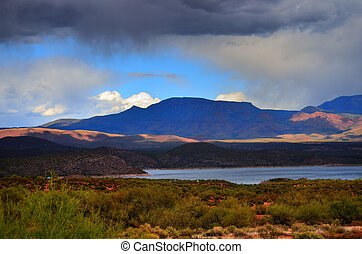 Lake Storm - Storm clouds forming over Roosevelt lake ...