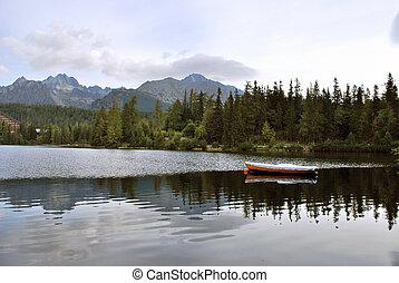 Lake Strbske Pleso in the High Tatras, Slovakia