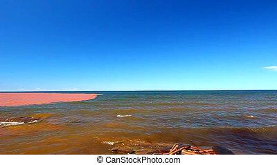 Lake Superior After Rainstorm - The muddy Big Iron River...