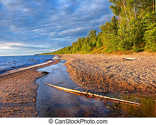 Lake Superior Beach Summer Evening