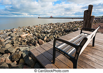 Overlook of Lake Superior from the Canal Park Boardwalk