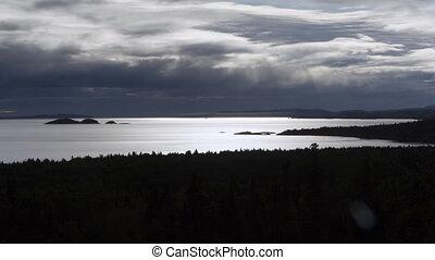 Lake Superior shoreline. Time lapse