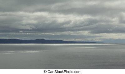 Lake Superior shoreline. Time lapse - North shore of Lake...