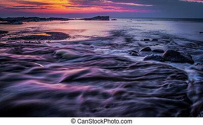 Lake Superior Sunset Background