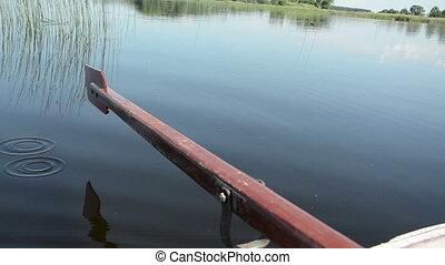 lake surface paddle