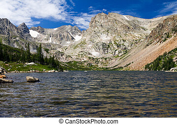 Lake Surrounded by Colorado Rocky Mountains