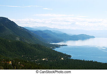 Lake Tahoe - a view on lake Tahoe from northern side