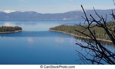 Lake Tahoe, overview - Landscape of the Lake Tahoe,...