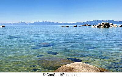 Lake Tahoe panorama, California.