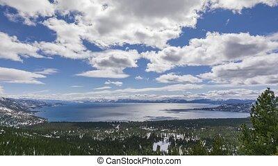 Lake Tahoe panorama time lapse
