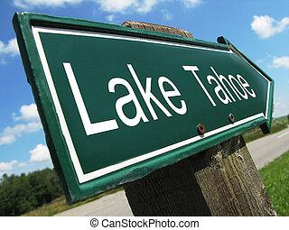 Lake Tahoe road sign