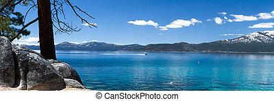Lake Tahoe - panorama of Lake Tahoe