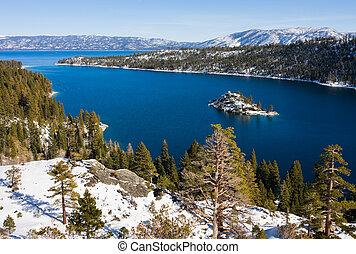 Lake Tahoe  - Emerald Bay in winter, Lake Tahoe
