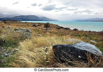 Lake Tekapo, New Zealand - Scenic view of lake tekapo, New...