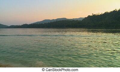 Lake Temenggor And Landscape View, Garik, Malaysia - Wide...