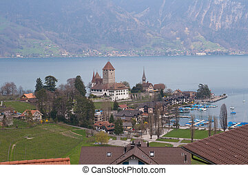 Lake thun at Spiez Switzerland