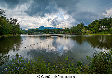 Lake Tomahawk, in Black Mountain, North Carolina.