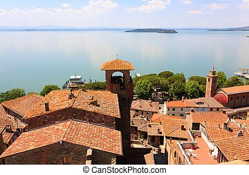 Lake Trasimeno view, Italy - Lake Trasimeno view from...