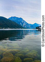 Lake Traunsee in the Austrian Alps, Austria