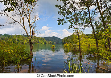 Big Ridge State Park - Lake view at Big Ridge State Park,...