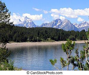 Grand Tetons - Lake View of Grand Tetons