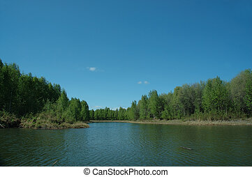 Lake View - View from the banks of Chena Lake, near...