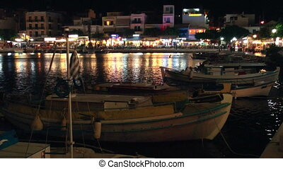 Lake Voulismeni night scene