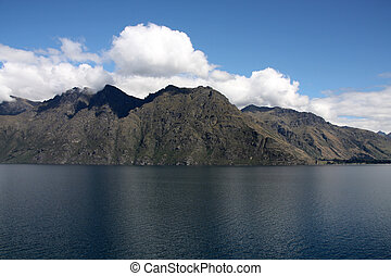 Lake Wakatipu - beautiful tourism destination in Otago, New Zealand