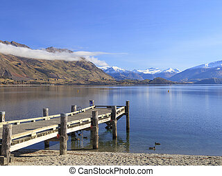 Lake Wanaka, Otago, New Zealand.