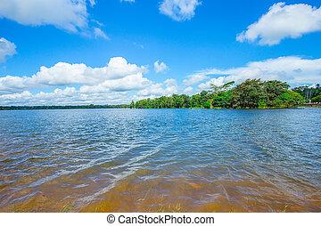 Lake, Water, Springtime, Summer, Sun