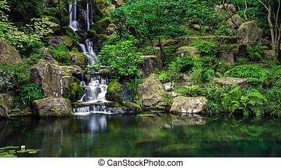Lake waterfall