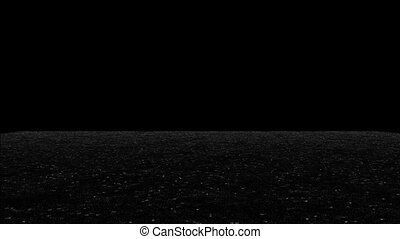Lake with brilliant gray and white highlights on a black background HD