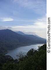 Lake with forest in Bali island