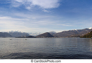 Lake with mountains-3