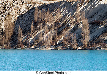 Lake with turquoise waters