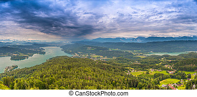 Lake Worth view from the Pyramidenkogel, Austria