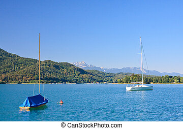 Lake Worthersee. Austria