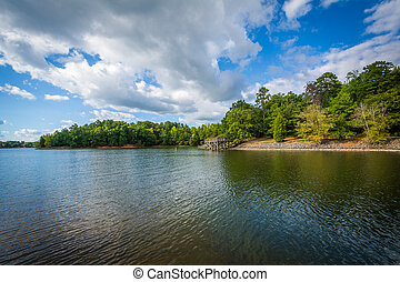 Lake Wylie, at McDowell Nature Preserve, in Charlotte, North...