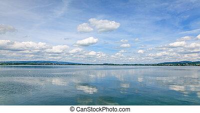 Lake Zug on a cloudy day