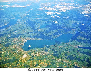 Lake Zug / Zugersee, Switzerland - aerial view