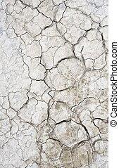 Lakebed -Dry Lake Cracked Ground. Vertical Photography. Mojave Desert, California, USA.