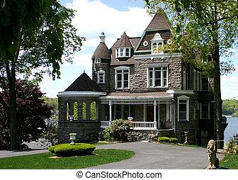 Lakefront Mansion