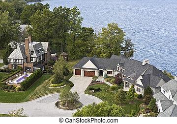 Lakefront residences in Cleveland, Ohio.