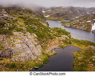 Lakes in mountains Norway