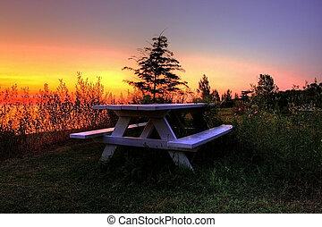 lakescape in Grand Bend in Ontario, Canada