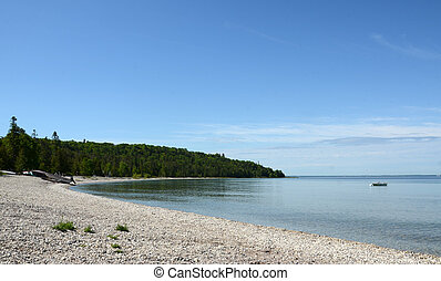 lakeshore, mackinac sziget, e hang