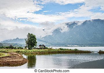Lakeside Bratan at rainy day - Territory Pura Ulun Danu ...
