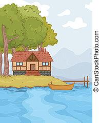lakeside, cabine
