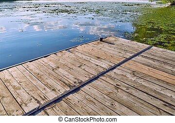 lakeside, cais, detalhe