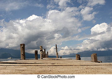 Lakeside Dock - The dock on Lake Atitlan